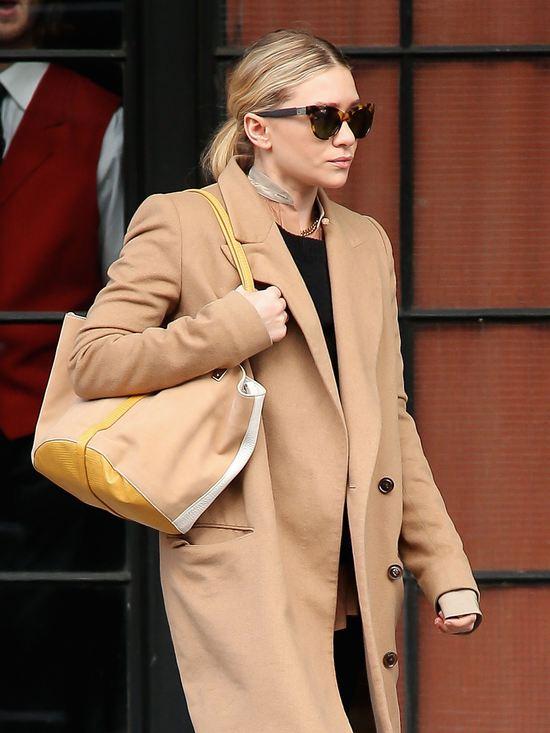 Ashley Olsen z torebką własnego projektu (FOTO)