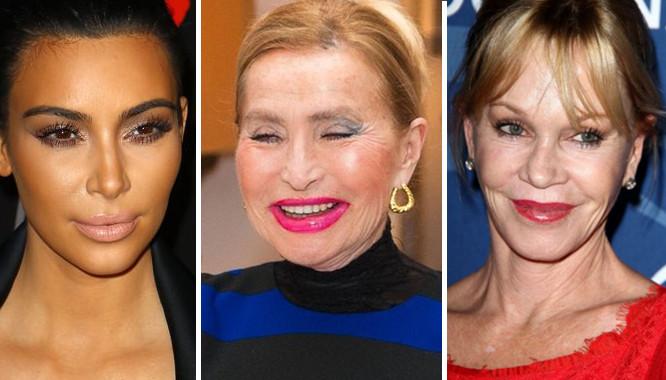 Te gwiazdy majstrowały przy twarzy w 2014!