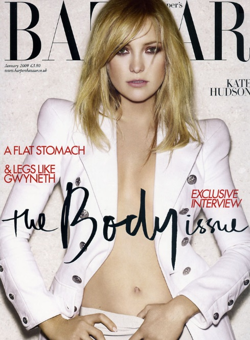 Kate Hudson na okładce Harper's Bazaar