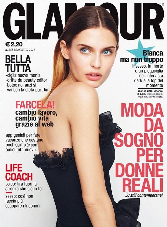 Bianca Balti na okładce majowego Glamour Italy