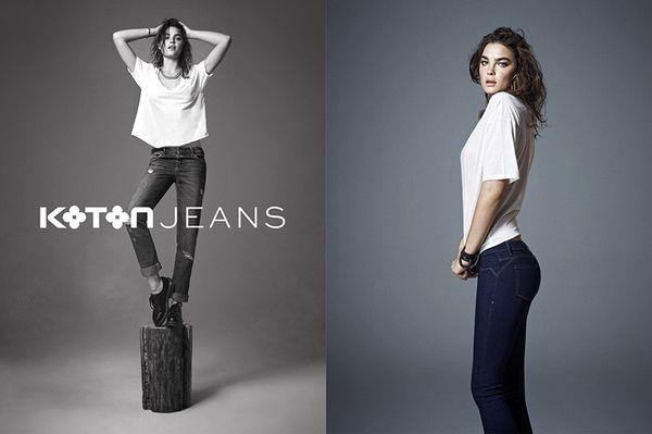 Bambi Northwood-Blyth w kampanii Koton Jeans