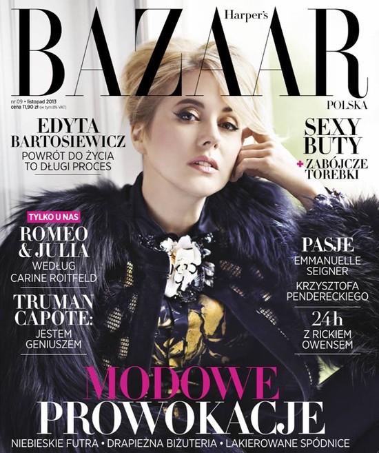 Edyta Bartosiewicz gwiazdą najnowszego Harper's Bazaar