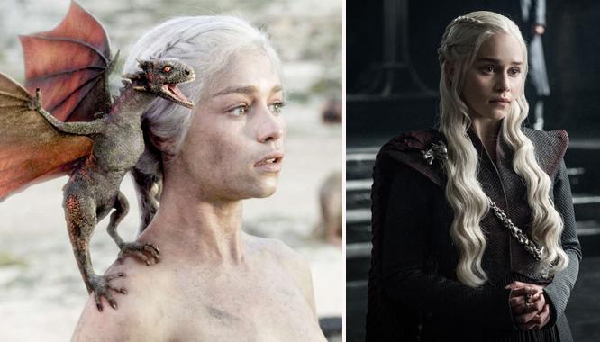 Gra o tron: Jak na przestrzeni lat zmieniała się Daenerys Targaryen? DUŻO ZDJĘĆ