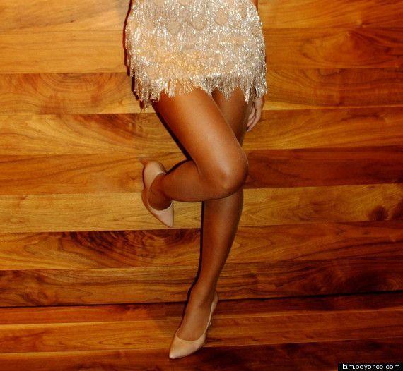 Beyonce w złotej sukience Randi Rahm (FOTO)