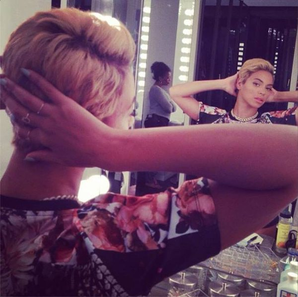 Nowa krótka fryzura Beyonce