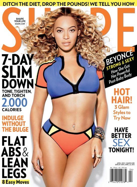 Beyonce pokazuje ciało w Vogue i Shape (FOTO)