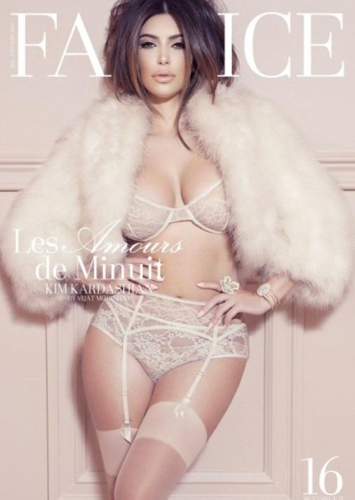 Seksowna Kim Kardashian na okładkach magazynów