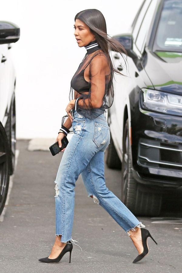 Kourtney Kardashian w czarnej... siatce? Zobaczcie jej najnowszą stylizację!