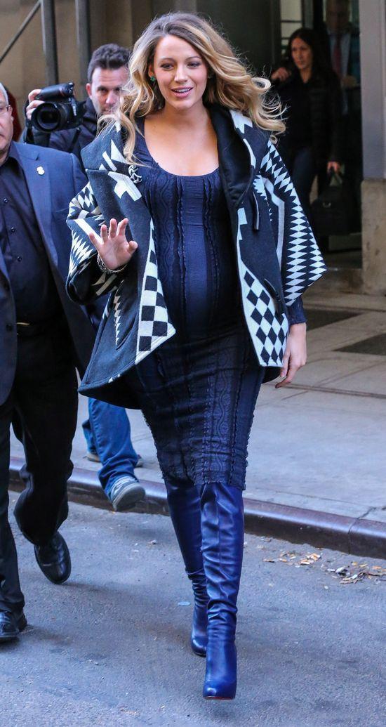 Blake Lively w ciąży stawia na kontrasty (FOTO)