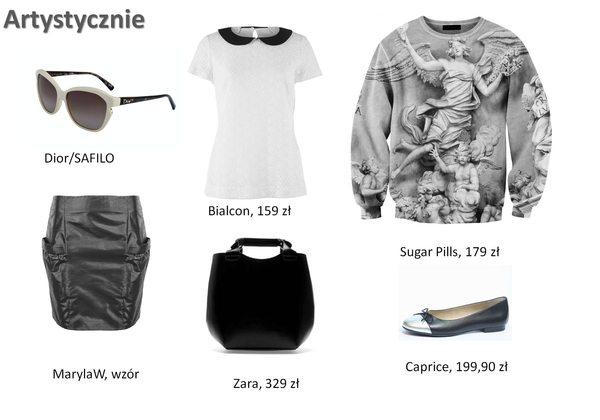 Stylizacje z wykorzystaniem modnych bluz we wzory