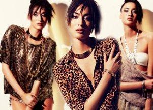 Błyszczące stylizacje od H&M