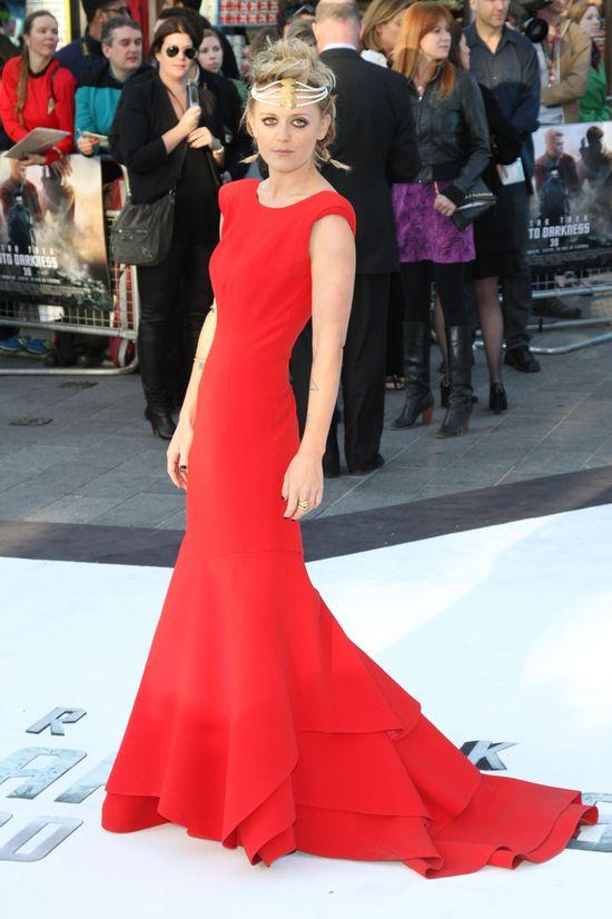 Bo Bruce w sukni La mania na premierze filmu Star Trek