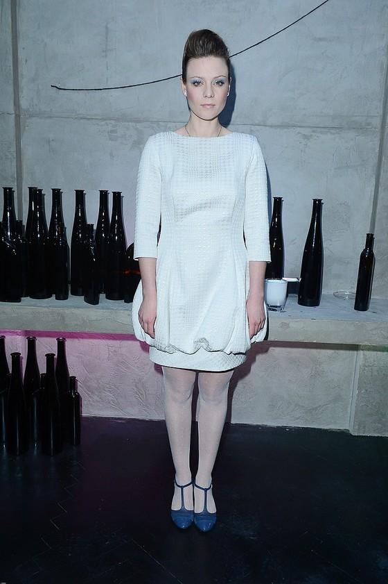 Magdalena Boczarska w białej sukience
