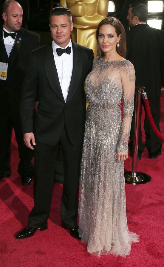 Oscary 2014 - Brad Pitt i Angelina Jolie