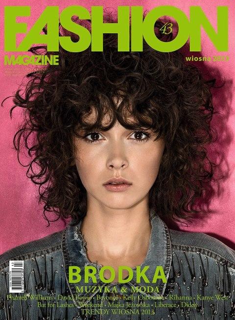 Monika Brodka na okładce Fashion Magazine