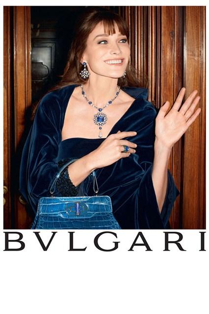 Carla Bruni w kampanii Bulgari Diva Collection