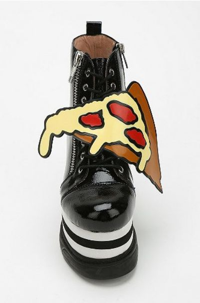 Pizza High-Top Platform Sneaker