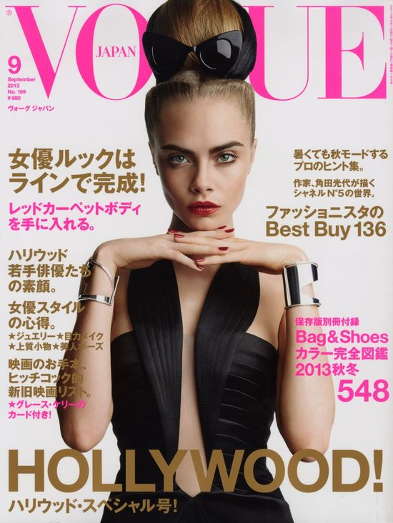 Cara Delevingne na okładkach Vogue