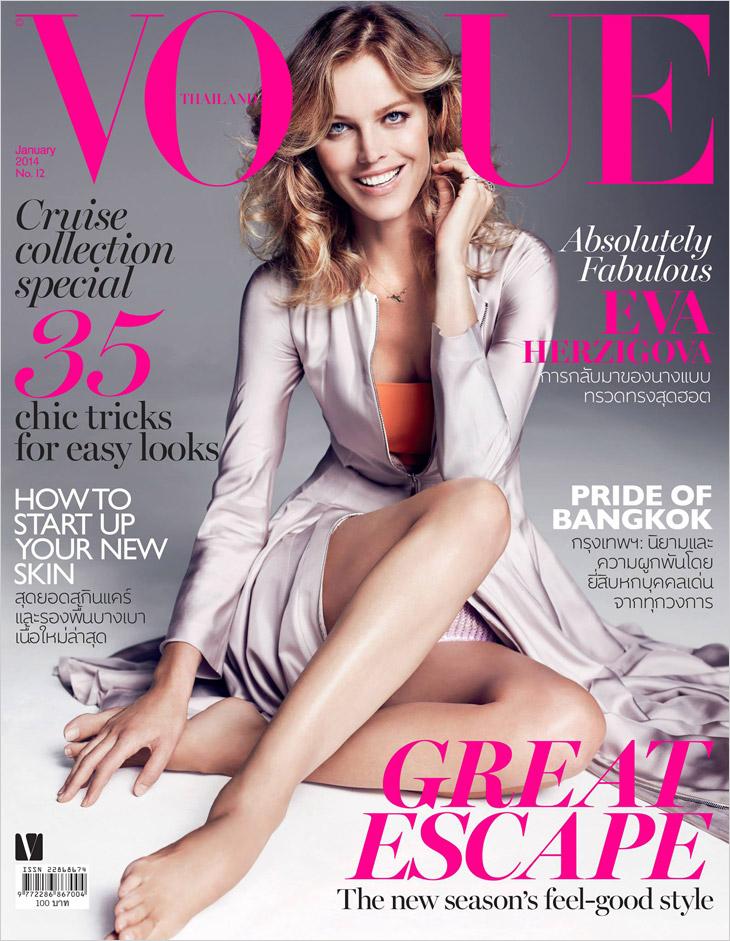 Eva Herzigova na okładkach Vogue'a