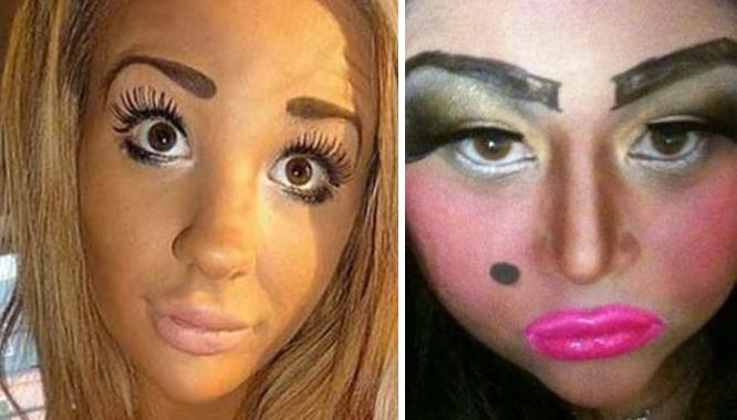 15 tragicznych makijaży, które straszą w Internecie