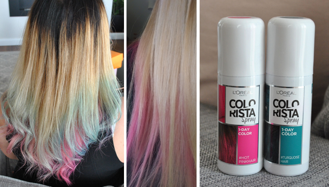 L'Oréal - Colorista Spray - 1-DAY COLOR - kolorowe włosy w 5 minut! [TEST]