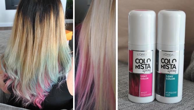 L'Oréal - Colorista Spray - 1-DAY COLOR - kolorowe włosy w 5 minut! [TEST]
