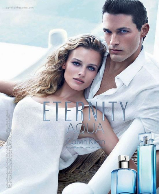 Edita Vilkeviciute w kampanii Calvin Klein Eternity Aqua
