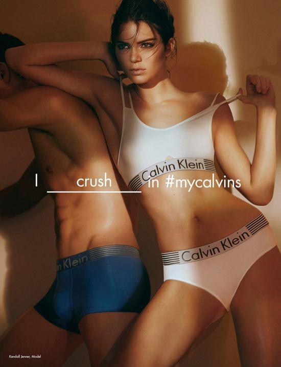 Kendall Jenner na gorących fotkach w bieliźnie Calvin Klein
