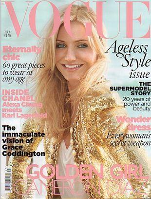 Cameron Diaz na okładce Vogue UK