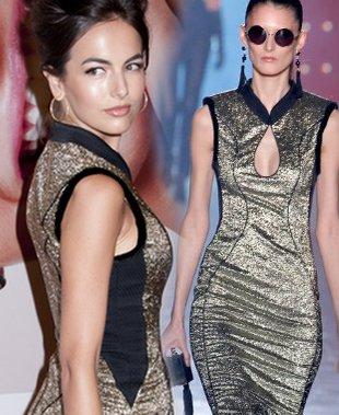 Złota sukienka Camilli Belle (FOTO)