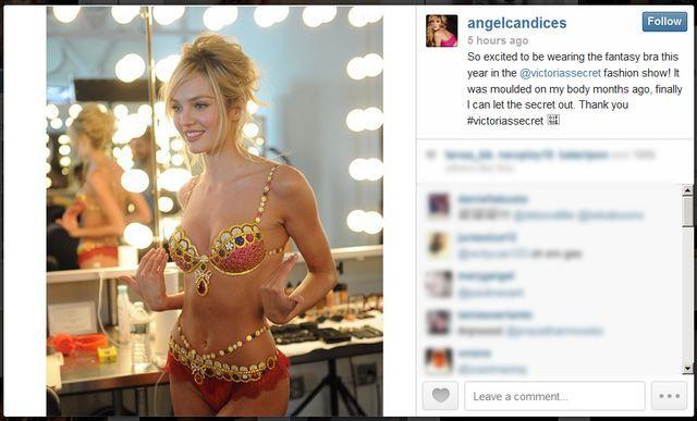 Candice Swanepoel zaprezentuje diamentowy stanik VS (FOTO)