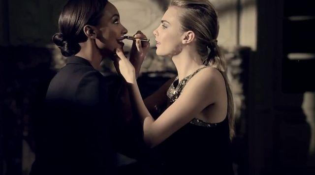 Cara Delevingne i Jourdan Dunn dla Yves Saint Laurent