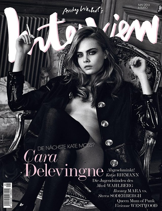 Seksowna Cara Delevingne na okładce  Interview Germany