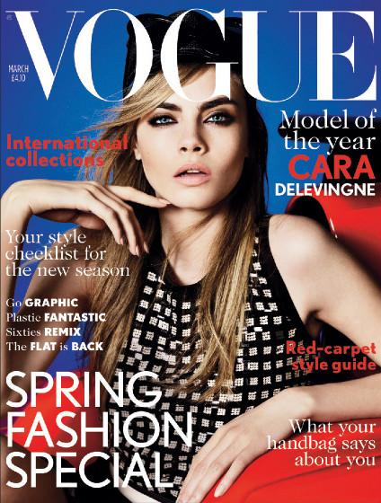 Cara Delevingne pierwszy raz na okładce Vogue UK