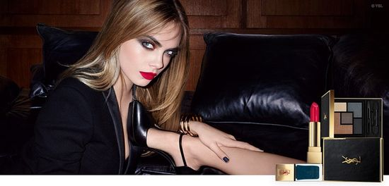 Cara Delevingne reklamuje kosmetyki od YSL