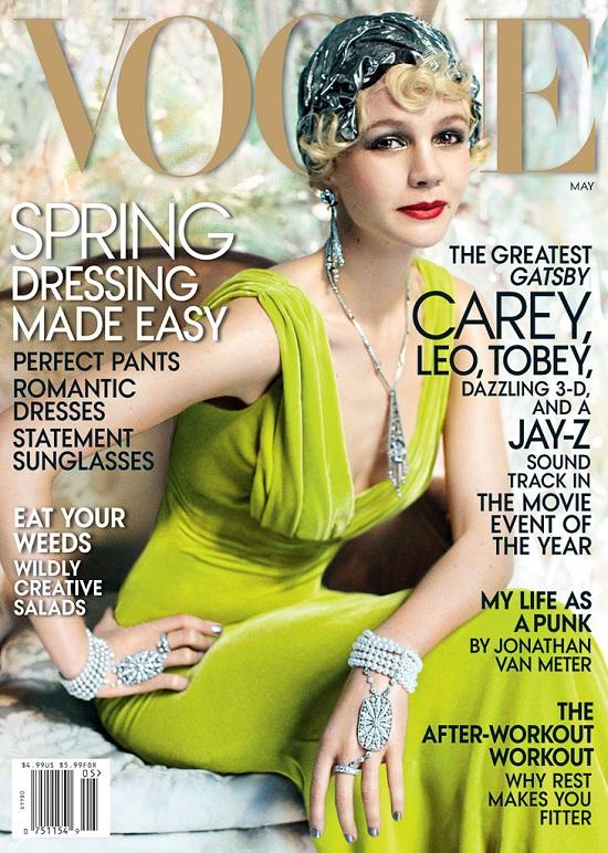 Carey Mulligan na okładce  American Vogue