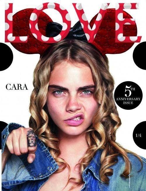 Delevigne, Huntington i Jagger na okładkach magazynu Love