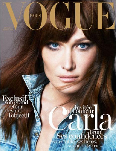 Carla Bruni gwiazdą francuskiego Vogue'a