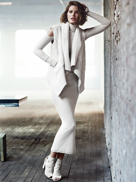 Catherine McNeil w kampanii Donna Karan Resort 2014