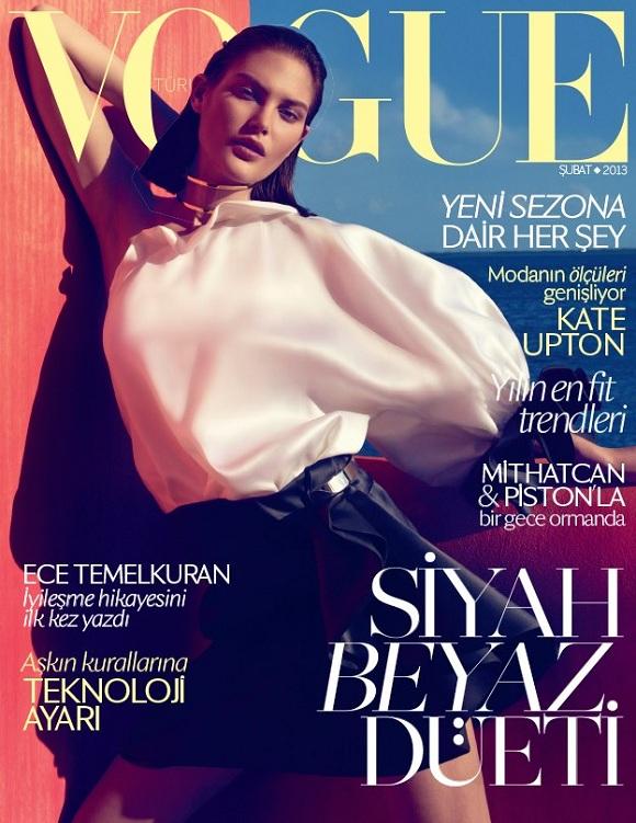 Catherine McNeil na okładce lutowego Vogue Turcja