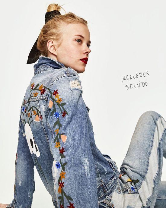 Zara TRF Oil on Denim Jeans i kolorowe wzory na lato 2017