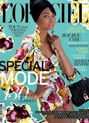 Chanel Iman na okładce L'Officiel Paris