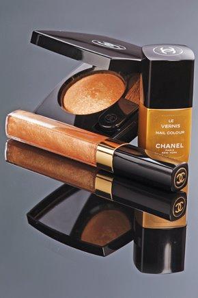 chanel, jesień, złoto, uroda, makijaż, make up, kolekcja