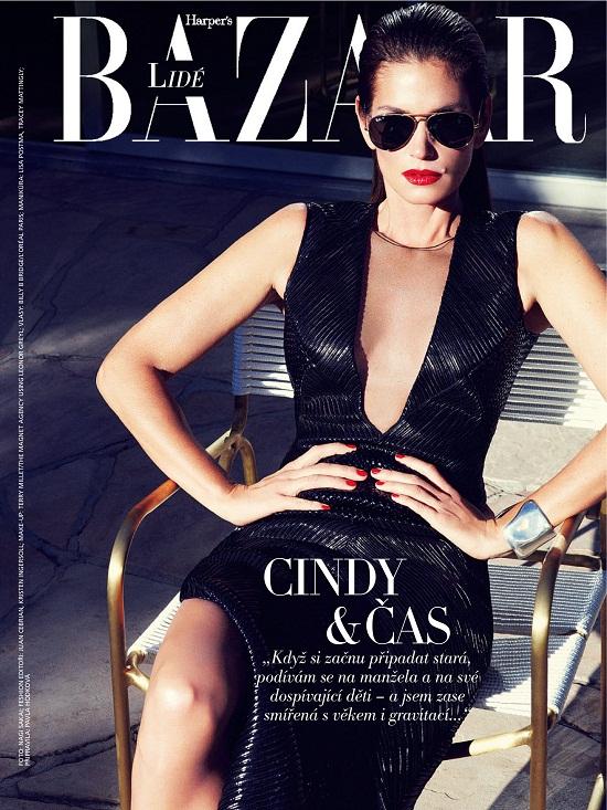 Seksowna Cindy Crawford na okładce Harper's Bazaar