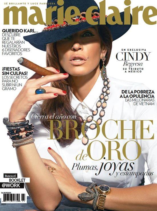 Cindy Crawford gwiazdą grudniowego Marie Claire