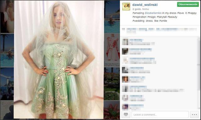 Iza Miko w sukniach ślubnych Dawida Wolińskiego (FOTO)