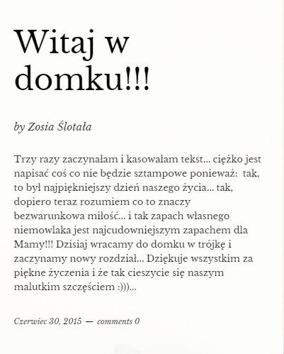 Zosia Ślotała została mamą! (FOTO)