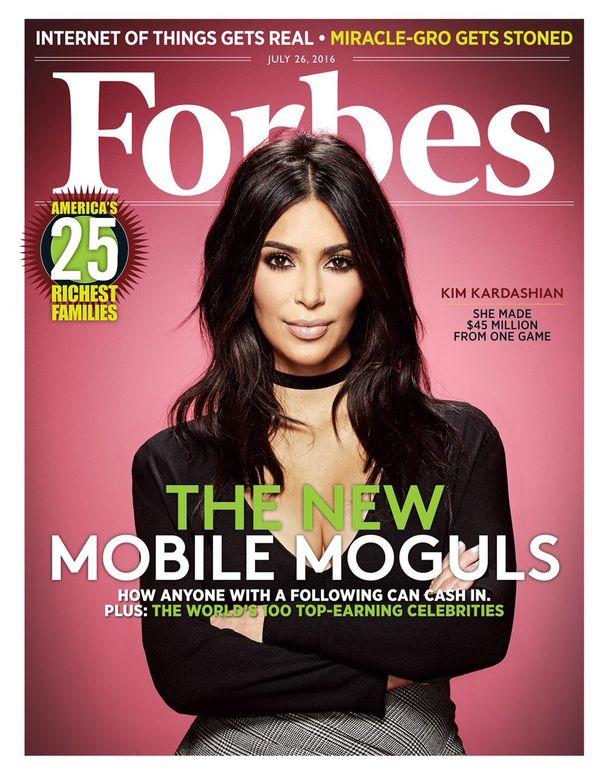 Kim Kardashian trafiła na okładkę magazynu... Forbes! (FOTO)