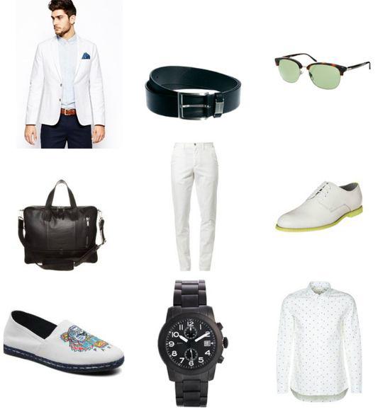 Męski trend: biały total look