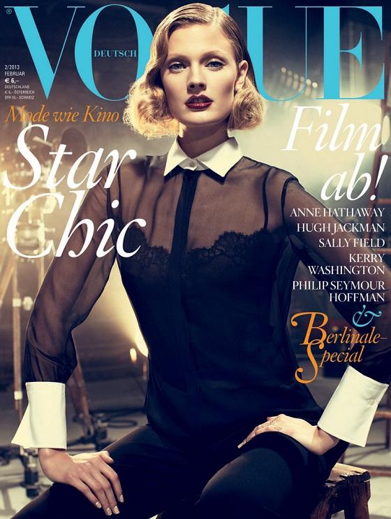 Constance Jablonski w Valentino na okładce Vogue Germany